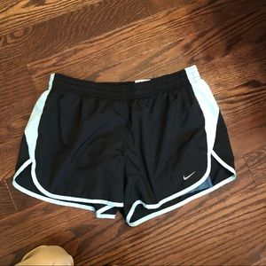 NIKE DRY FIT SHORTS BLACK AND BLUE STRIPE